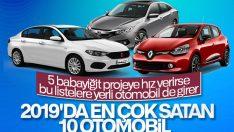 Türkiye'de en çok satan 10 otomobil modeli