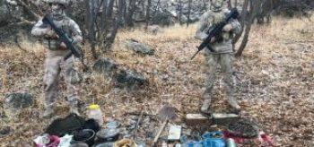 Van'da PKK'ya ait mühimmatlar ele geçirildi