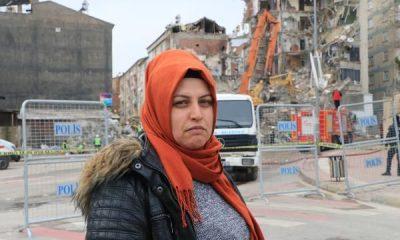 2 hafta önce taşındığı bina yıkıldı