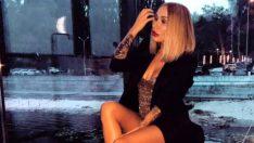 Ukraynalı güzel Irina Morozyuk, iddialı iç çamaşırıyla yeni yıl pozu verdi