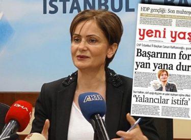 PKK'nın gazetesine manşet oldu!