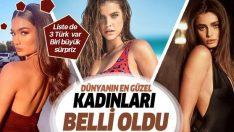 Dünyanın en güzel yüzlü kadınları belli oldu… 2019 listesinde 3 de Türk isim var… İşte o isimler