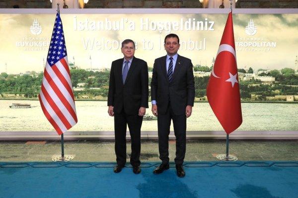 ABD Ankara Büyükelçisi, İmamoğlu'nu ziyaret etti