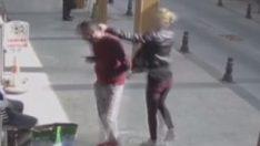Adama tokat atan kadın kavga çıkarttı