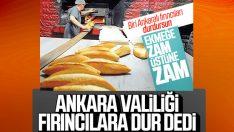 Ankara'da ekmeğe yapılan zam geri alındı