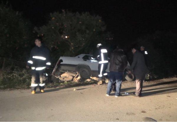 Antalya'da bir araç şarampole düştü: 1 ölü 1 yaralı