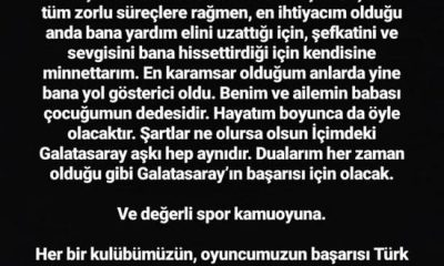 Arda Turan: 'Aslolan Arda Turan değil, Galatasaray'dır'
