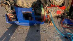 Balıkesir'de traktör devrildi sürücü hayatını kaybetti