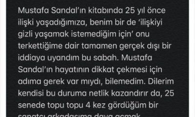 Defne Samyeli Mustafa Sandal'ın itirafını yalanladı
