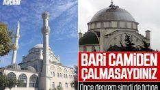 Depremde minaresi yıkılan caminin, fırtınada kubbesi uçtu