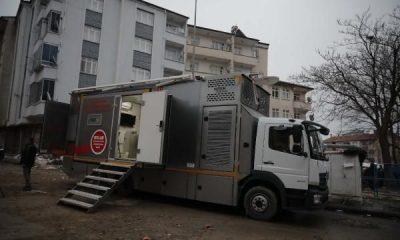 Elazığ'daki depremde lazer tarayıcı cihaz kullanıldı