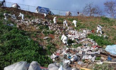 Faytonculardan geriye kalan çöpler temizlendi