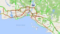 Havada karada yarıyıl tatili trafiği