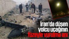 İran'da düşen Ukrayna Hava Yolları uçağının düşüş anları