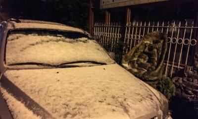 İstanbul'a kısa süreli kar ve dolu yağdı