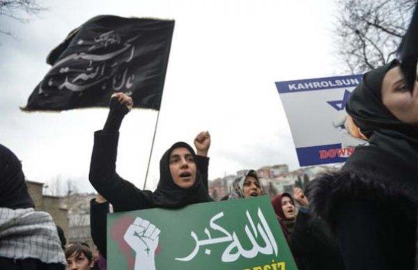 İstanbul'da Kasım Süleymani protestosu