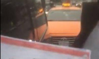İstanbul'da yol kesen taksiciler