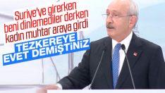 Kılıçdaroğlu'na kadın muhtardan terleten soru