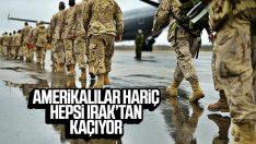 Koalisyon güçlerine ait askerler Irak'tan taşınıyor