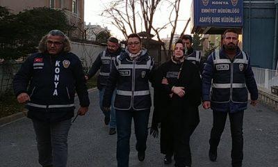 Konya'da, kocasıyla yaşayan kadını öldürdü