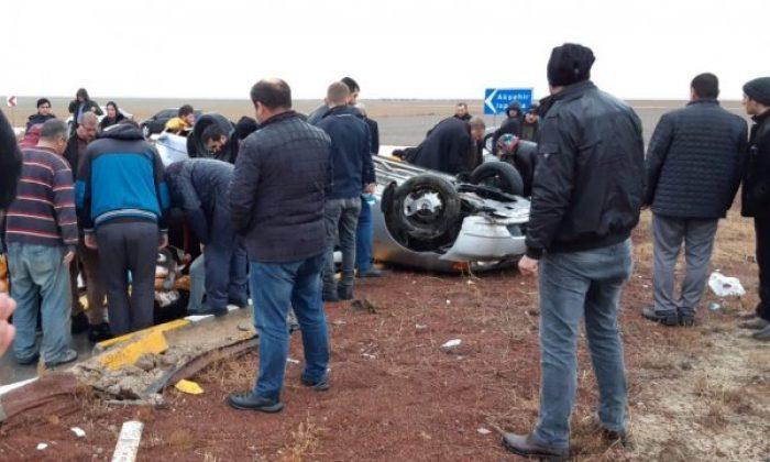 Konya'da trafik kazasında 1 kişi öldü 8 kişi yaralandı