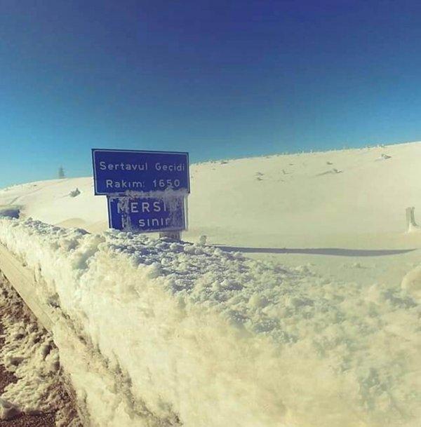 Mersin'in Mut Sertavul Geçidi ulaşıma kapandı