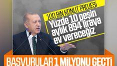Sosyal konut projesine başvuru sayısı 1 milyonu aştı