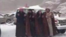 Suudi Arabistan'a kar yağdı, Araplar coştu