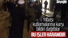 Tebliğcilerden İstanbul'da yılbaşı karşıtı etkinlik