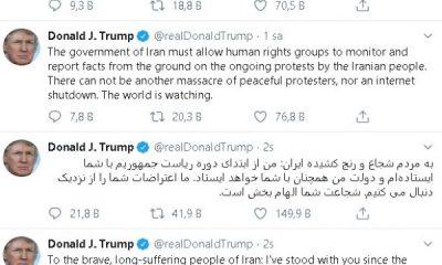 Trump, İran'daki rejim karşıtlarına Farsça mesaj gönderdi