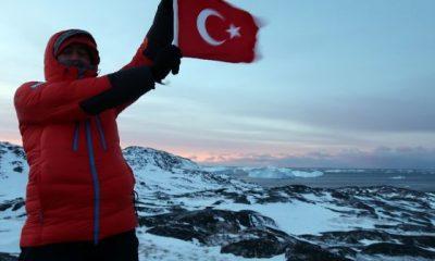 Türk ekip Grönland'daki buzul vadisini kızakla geçti