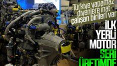 Türkiye'nin ilk yerli motoru seri üretimde