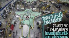 Yunanistan 24 adet F-35 almak istiyor