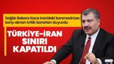 İran'dan Türkiye'ye gelişler durdurul