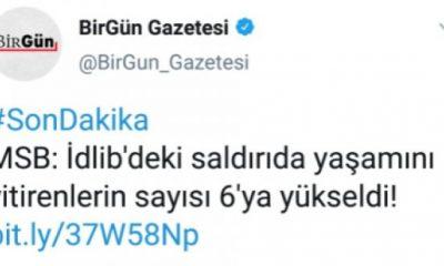 Birgün, İdlib haberinde şehit diyemedi