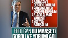 Cumhurbaşkanı Erdoğan, Abdullah Gül'ü önemsemedi