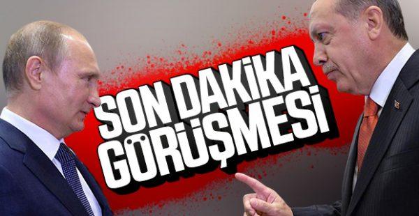 Cumhurbaşkanı Erdoğan, Putin'le görüştü