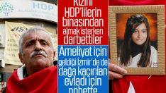Dağa kaçırılan kızı için evlat nöbetini İzmir'de sürdürdü