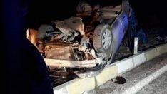 Denizli'de yolcu otobüsü ile otomobil çarpıştı: 3 ölü