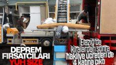 Depremzedenin eşyasını askeri kamyonlar taşıyacak