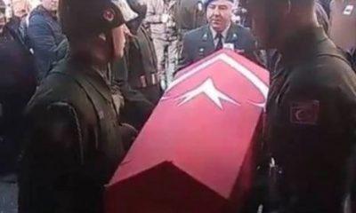 Hayatını kaybeden astsubay Karabük'te defnedildi