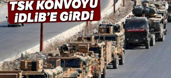 TSK konvoyu İdlib'e girdi