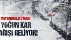 16 ilde yoğun kar ve çığ uyarısı!