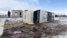 Kayseri'de tur otobüsü devrildi: 43 yaralı