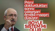 Kemal Kılıçdaroğlu, emeklilik sistemini eleştirdi