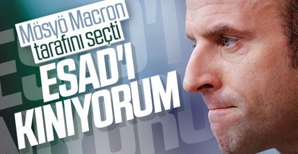 Macron'dan Esad'a kınama