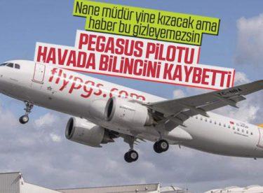 Pegasus pilotu uçuş esnasında bilincini kaybetti