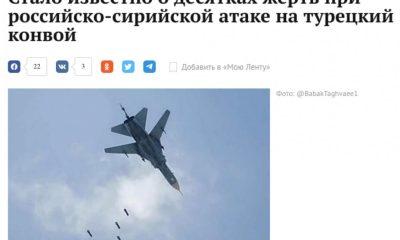 Rus basınına göre Türk askerini Rus uçakları vurdu