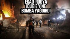 Rus savaş uçakları İdlib'i vurdu