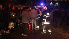 Tekirdağ'da bir otomobil park halindeki araçlara çarptı